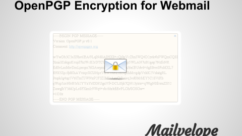 Mailvelope : OpenPGP for webmail