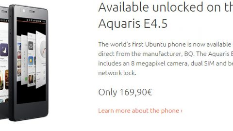 To 1o Ubuntu Phone στα 169,90€